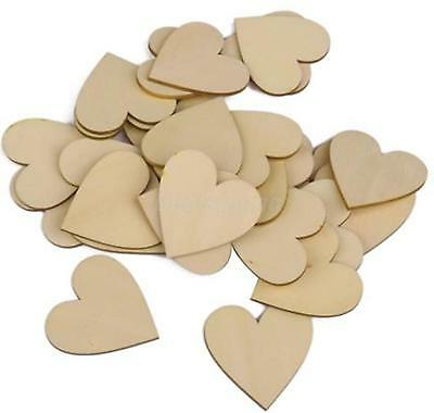 MDF Wooden Heart Shapes 3mmThick Custom Laser Cut Love Wood Base 10mm to 75mm
