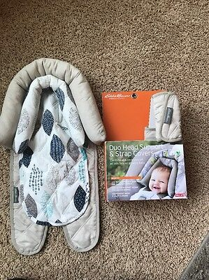 Eddie Bauer Duo Infant  Head Car seat Support Tan Unisex New