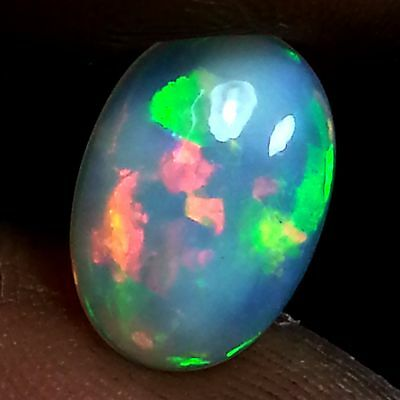 1.50 Ct Rainbow Flashing Sparkling Multi Color Natural Ethiopian Opal Loose Gems