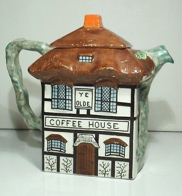 John Maddock & Sons Vitreous Thatched Cottage Ware Ye Olde Coffee House Pot