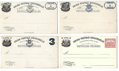 G3 Peru postal stationery ps card antique official postcards all diff antique