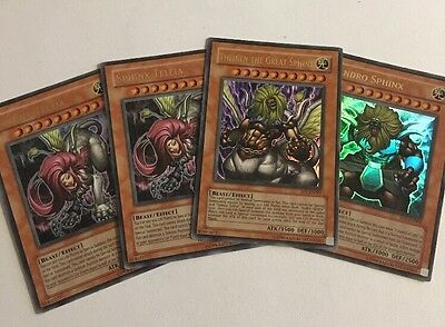 Andro Sphinx, Sphinx Teleia And Theinen The Great Sphinx Set, Yugioh Card Bundle