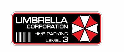 4x Umbrella Corporation Hive Parking Aufkleber Resident Evil Zombie Raccoon City