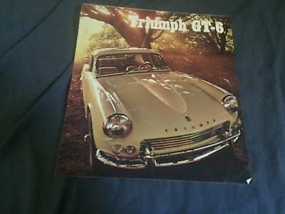 1968 Triumph GT6 Coupe Original Color Brochure Prospekt