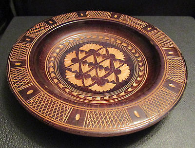 Decorative Carved Wooden Plate