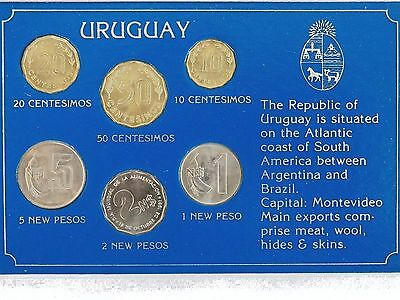 The Republic Of Uruguay (1980-1981) Uncirculated Coins Set !
