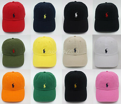 RL Polo Men Classic Embroidered Pony Cotton Chino Baseball Cap Adjustable Hat