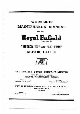 Royal Enfield Meteor 700 & 500 Twin Motorcycle Workshop Service Manual
