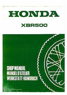 Honda Xbr500 Workshop Service Manual