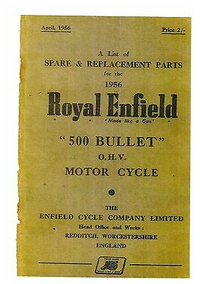 ROYAL ENFIELD BULLET 500cc MOTORCYCLE SPARE PARTS MANUAL