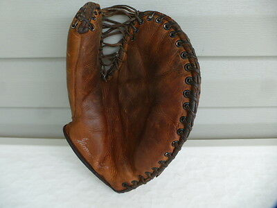 Antique Reach Leather Catcher's Mitt Baseball Glove Jimmie Hagan Nice