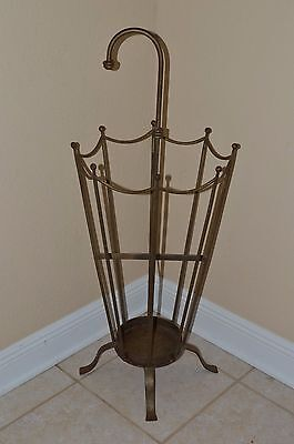 "Vintage 39"" WROUGHT IRON UMBRELLA & CANE HOLDER RACK STAND Pickup Only Tampa FL"