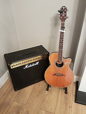 Crafter guitar and Marshall amplifier
