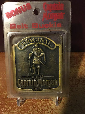 New Captain Morgan Original Rum Brass Belt Buckle