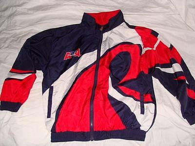 Nice Child Medium Ata Nylon Jacket Windbreaker~Ata Logo On Back~Free Us Ship