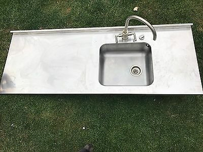 Stainless Steel Kitchen Sink Bowl Unit Commercial Worktop