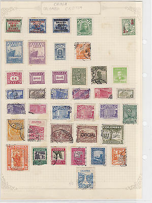 China + Colombia Stamps Ref: R6273