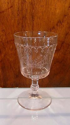 EAPG Panelled Sagebrush Goblet ☆ Possibly by IOWA CITY GLASS ☆ ca 1881-1882 RARE
