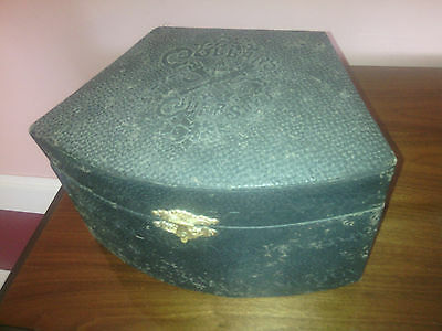 Antique Men's Collars & Cuffs embossed storage box with collars lot