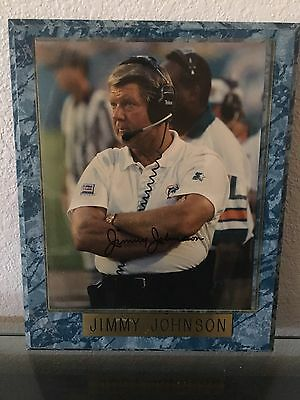 Jimmy Johnson Signed Autographed Picture Framed Plaque