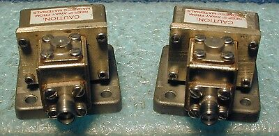 WR-75 waveguide to coax adapters, with isolators
