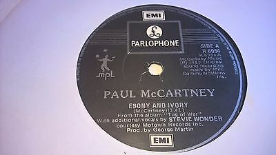 "PAUL McCARTNEY - Ebony & Ivory - IRISH PRESSING 7"" IRELAND THE BEATLES"