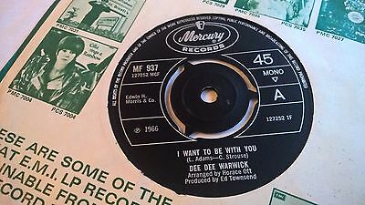 """DEE DEE WARWICK - I Want To Be With You / Alfie - UK PRESS SOUL 7"""" 1966"""