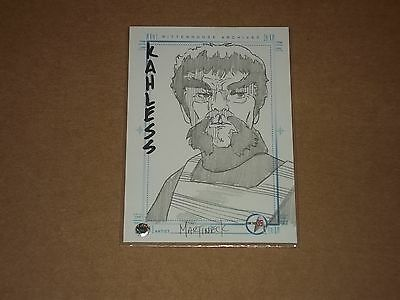 2001 Rittenhouse Archives Star Trek 35Th Anniversary Kahless Sketchafex Signed C