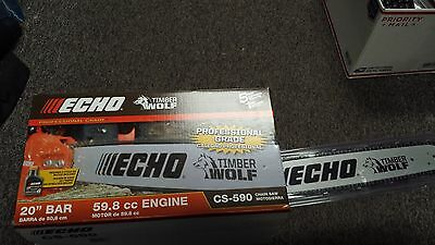 NEW!!! ECHO CS-590  20 Inch Chainsaw With 59.8 CC  PRO GRADE Free Shipping!!!!