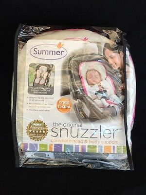 Summer Infant Snuzzler Infant Support for Car Seats and Strollers, Velboa Pink
