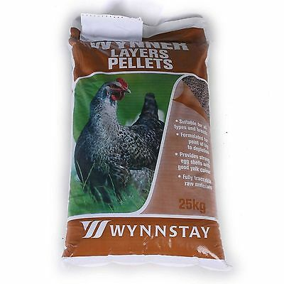 WYNNSTAY LAYERS FEED Pellets for Hens, CHICKENS POULTRY FOOD FEED,DUCKS 20KG