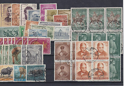 India Stamps + Stamps Blocks Used Ref: R7324