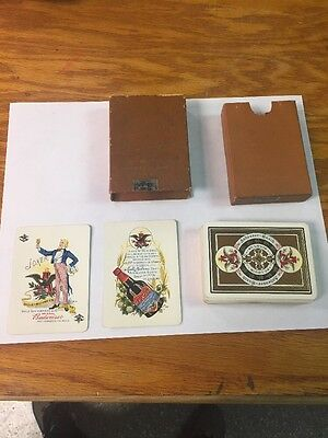 Vintage 1900 Anheuser Busch Spanish American War Military Playing Cards W/box