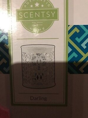 Used SCENTSY DARLING WARMER WITH TEAL SLEEVE