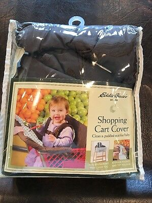 Eddie Bauer Baby Clean Seat Shopping Cart & High Chair Cover Brown In Package