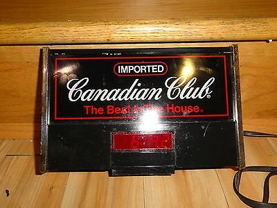 Canadian Club Advertising Sign with Clock