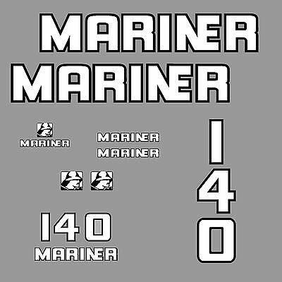 1 kit stickers MARINER 140 cv serie 4 ref.1 hors bord bateau autocollant decals