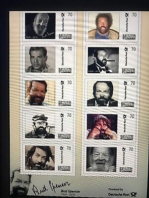 Bud Spencer Briefmarken 10* 0,70€ Sonderserie