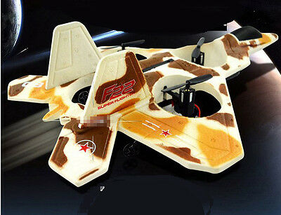 Yellow Camo Length 84CM Remote Control Plane Fixed Wing Glider Model Toys #