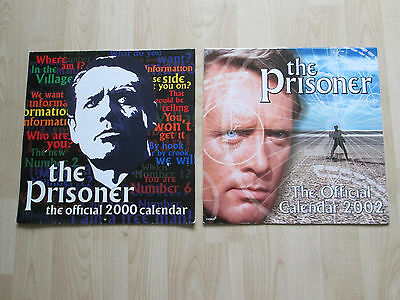 The Prisoner - The Official 2000 & 2002 Used Retro Vintage Calendars