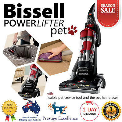 Cyclonic Upright Vacuum Cleaners 800W Bissell Pet Hair Powerlifter Carpets Clean