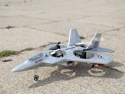 Silver Gray Length 35.5CM Remote Control Plane Fixed Wing Glider Model Toys #