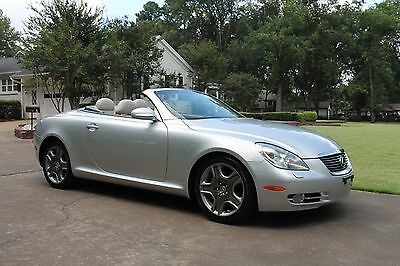 2006 Lexus SC 430 Convertible Perfect Carfax Great Maintenance History Michelin Tires MSRP New $67084