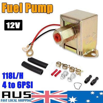 HOT Electric Fuel Pump 12 volt Solid State 4 to 6psi 130 LPH Petrol Universal GE