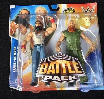 wwe luke harper & erick rowan battle pack 31 figures new rare wyatt family