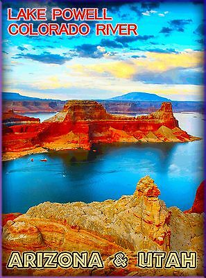 Lake Powell Colorado River Arizona & Utah United States Travel Art Poster Print