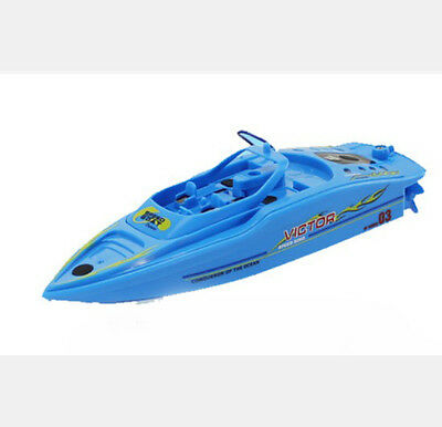 Blue Length 15CM Remote Control Boat Simulation Racing Boat Model Gift Toys #