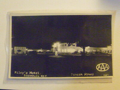 RP Real Photograph Postcard - Riley's Motel - TILLSONBURG, Ontario Canada