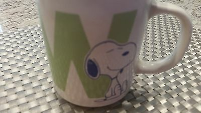 Vintage Mug Peanuts Snoopy Coffee cup with Letter W 1958