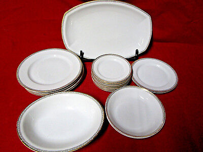 """17 Pieces Heinrich H&C Co Selb Bavaria China, """"Imperial"""" Plates, Platter, Bowls"""